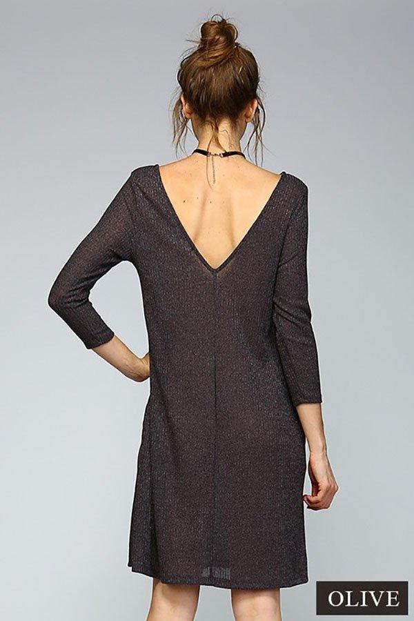 V-Back Swing Dress