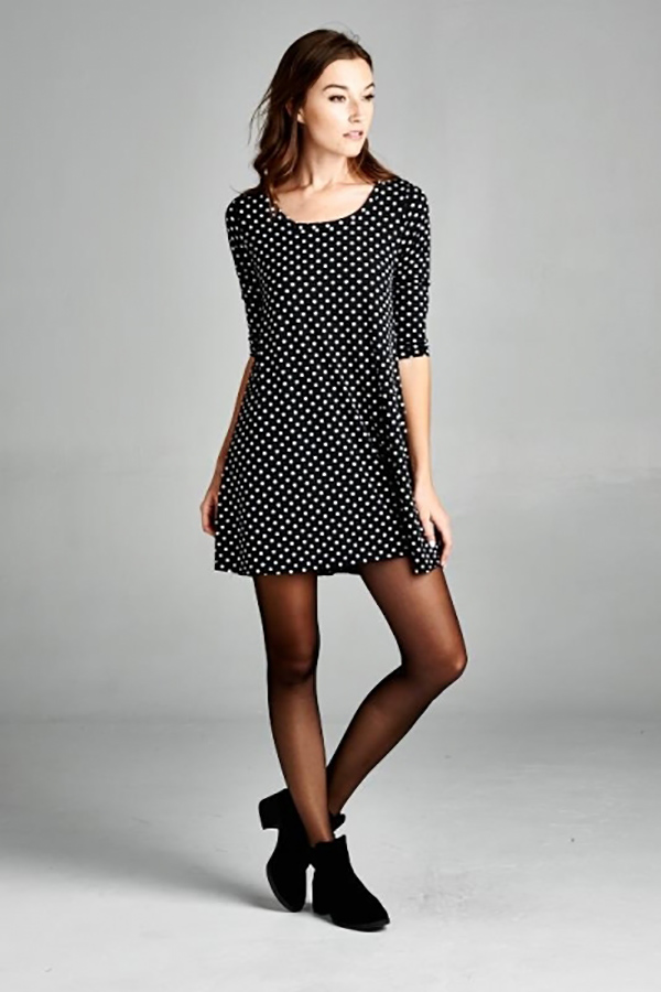 Polka-dot Swing Dress