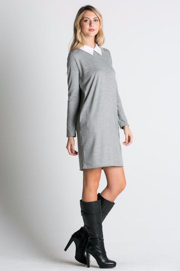 Collared Loose Fit Mini Dress
