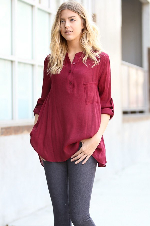 Roll-up Sleeve Shirt