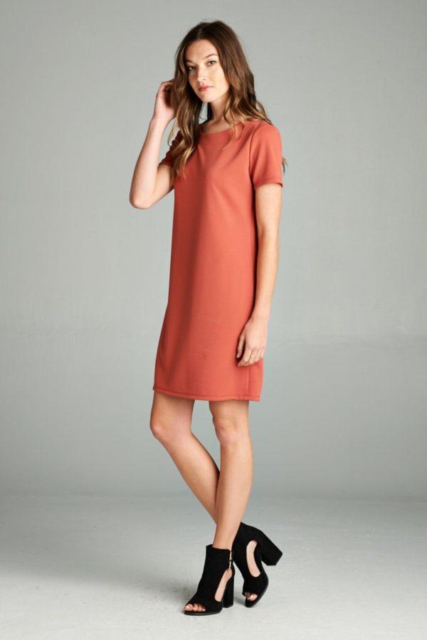 Solid Shift Dress
