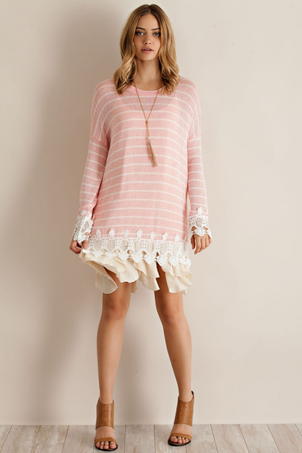 Cut & Sew Boho Sweater