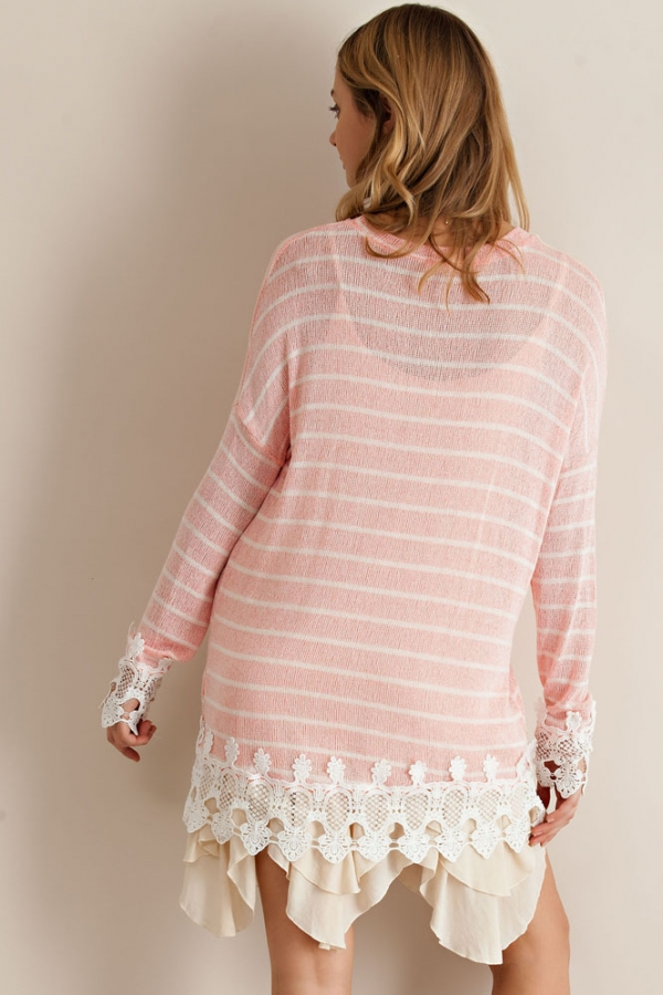 Cut & Sew Boho Sweater