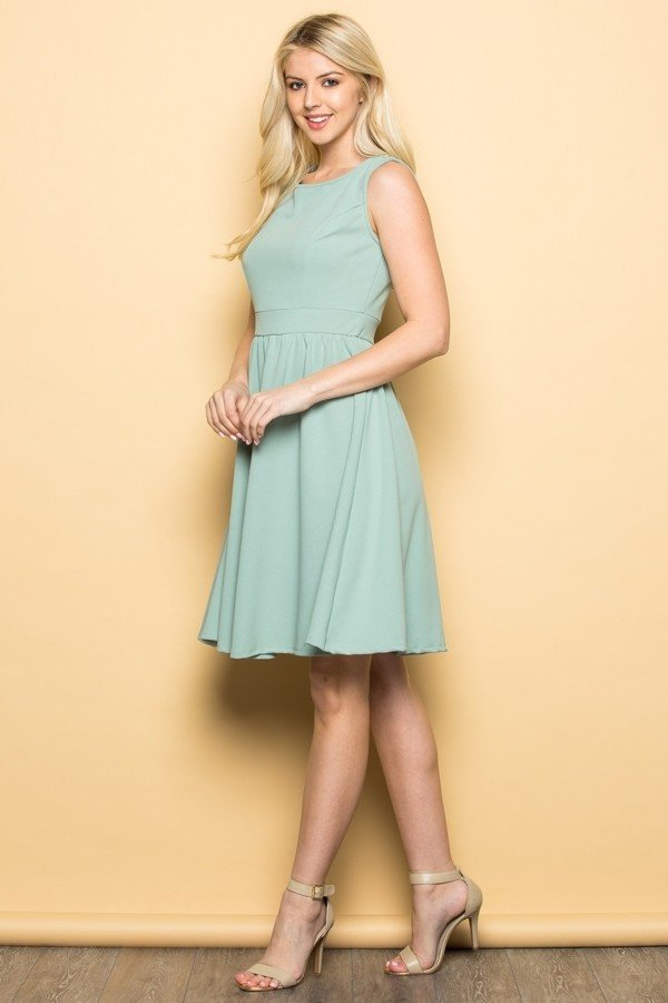 Sage Semi Cocktail Dress