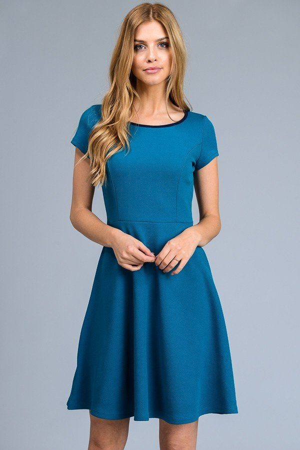A-line Dress with Back Key Hole