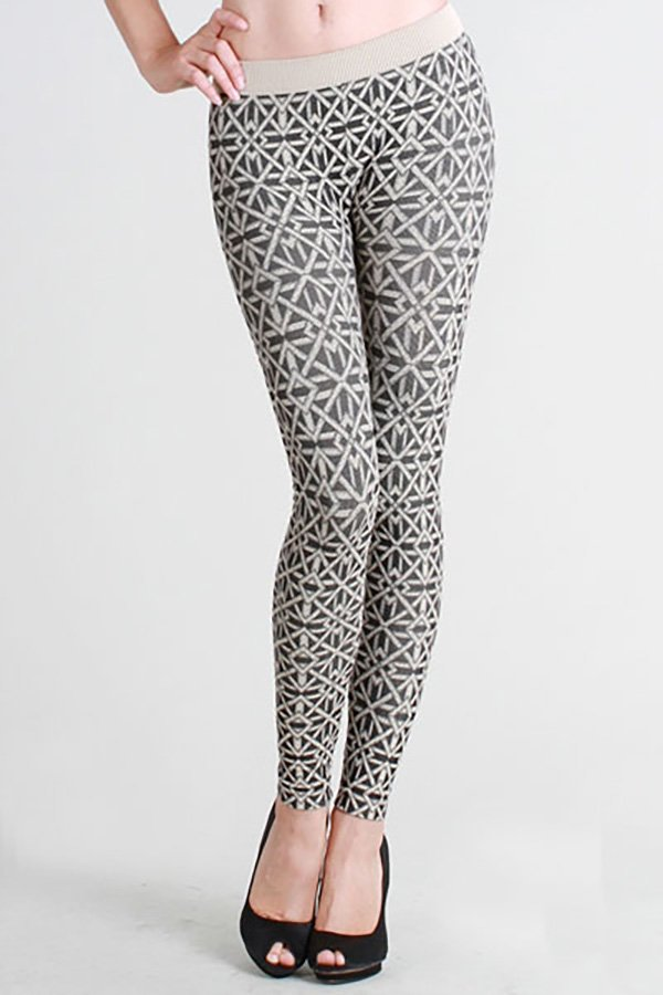 Snowflake Two-Tone Leggings