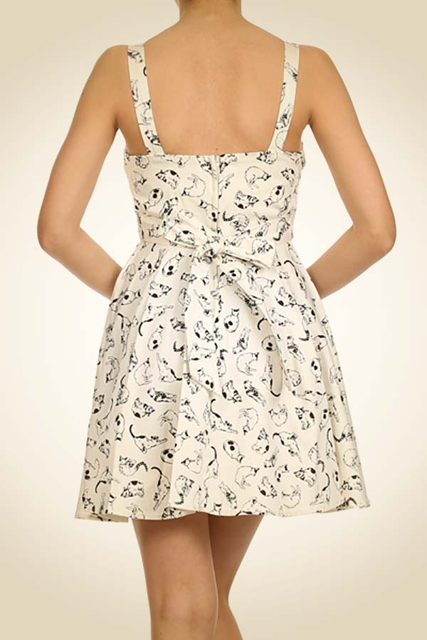Retro A-Line Cat Dress