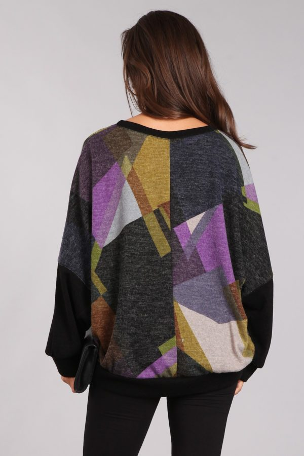 Abstract Pullover Sweater