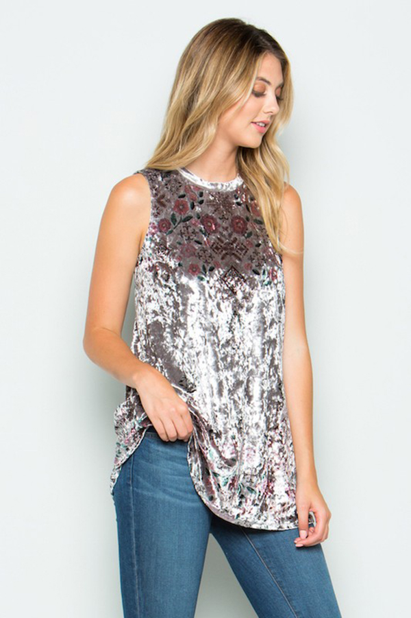 f7910dc24f9e Crushed Velvet Sublimation Tank - Lazy Caturday - Fun and Unique