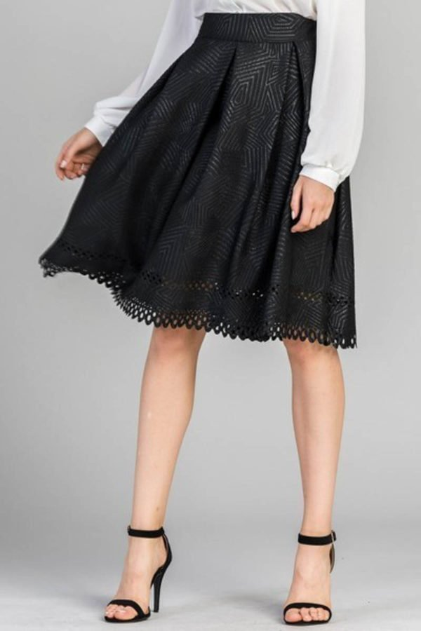 Pretty Precise Laser-Cut Skirt