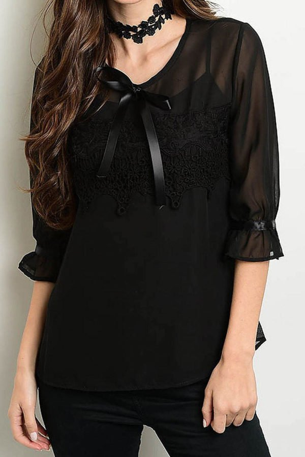 Tied in Ribbon Chiffon Top
