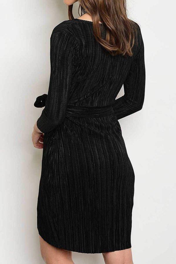 Vampy Black Wrap Dress