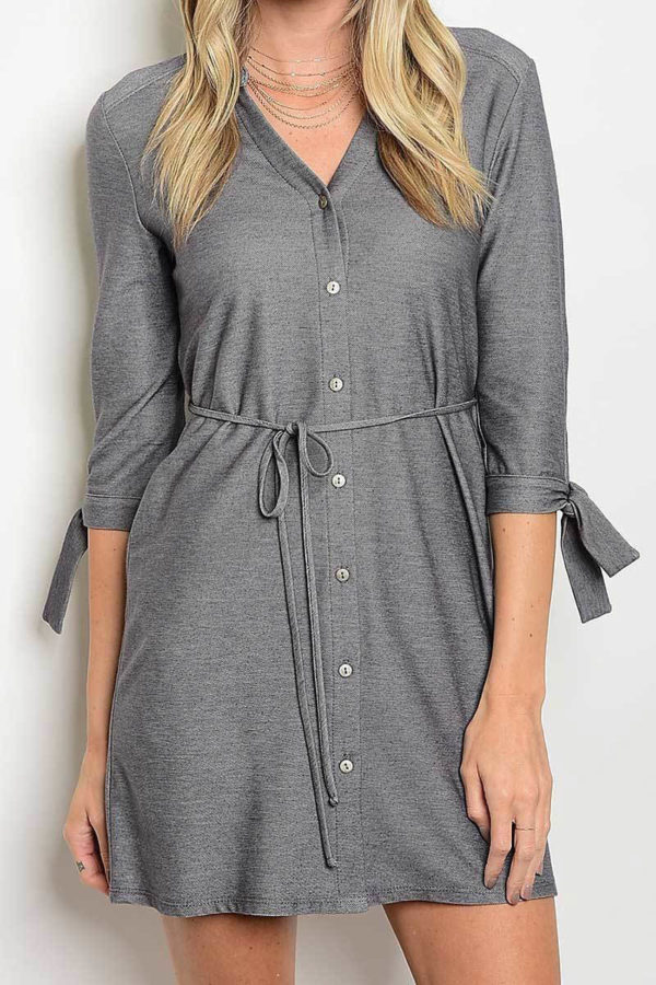 Fit and Tied Shirt Dress