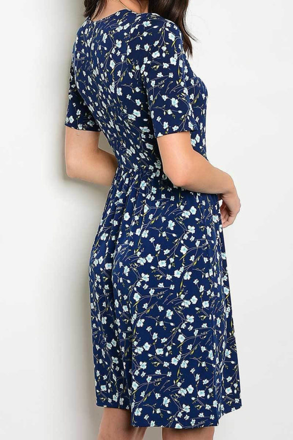 Navy Serenity Floral Dress