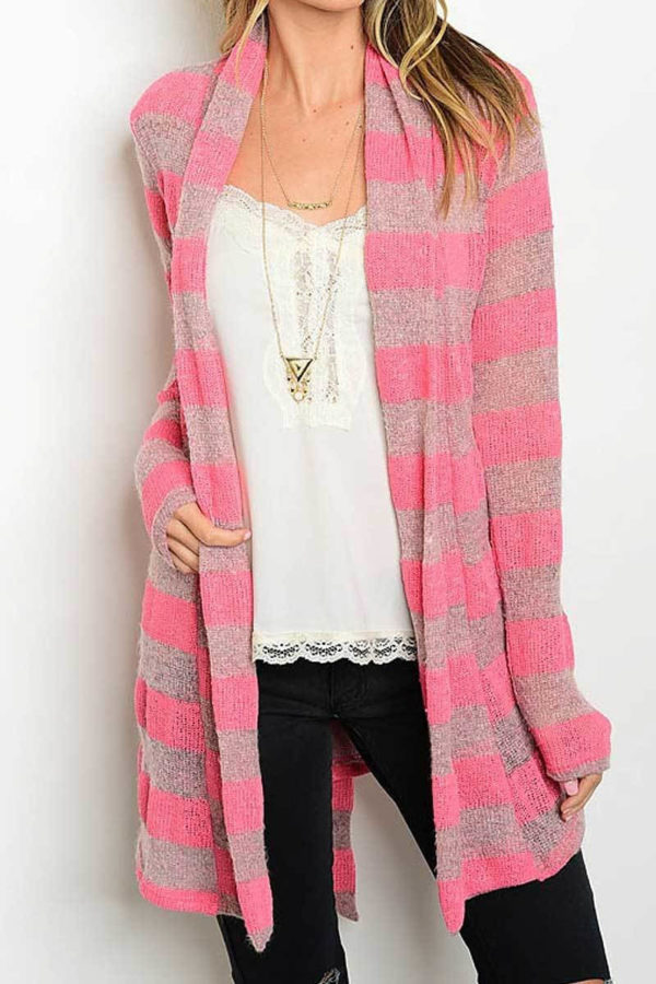 Sugar and Spice Striped Cardigan