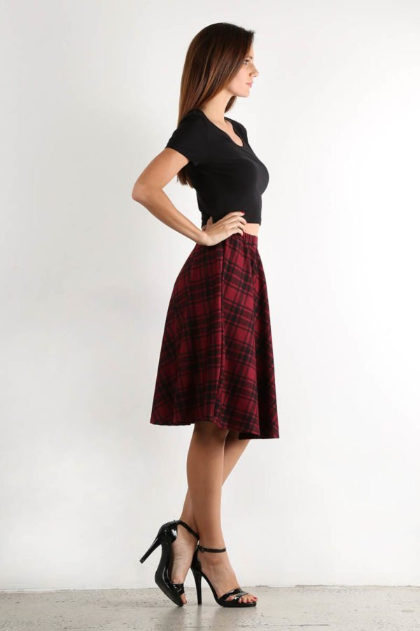 Tartan Around Plaid Skirt