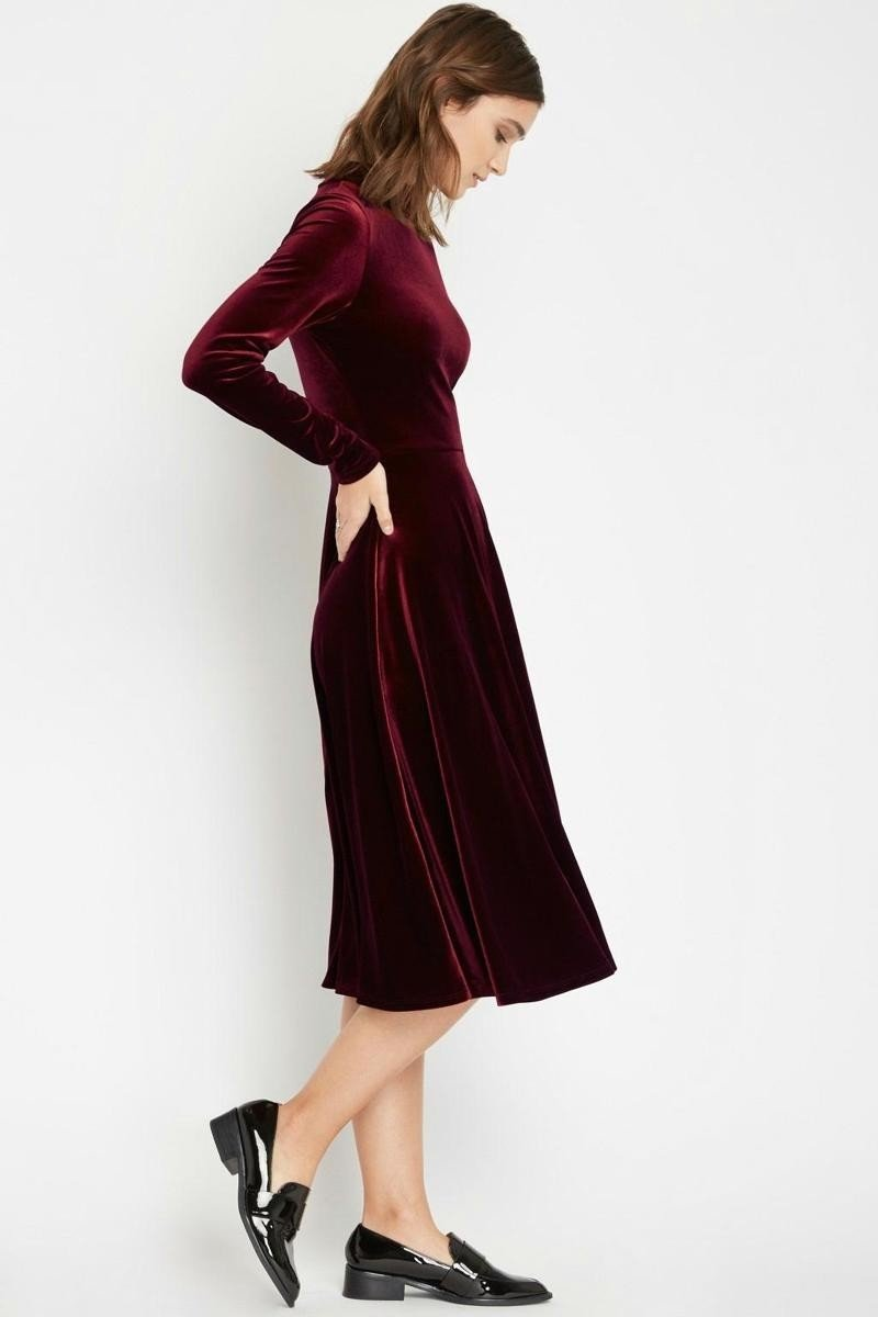 906af540f3d8 Ruby Red Velvet Midi Dress - Lazy Caturday - Fun and Unique