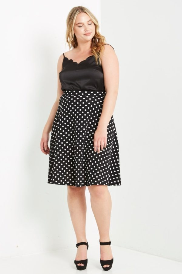 Flare for Dots Polka Dot Skirt