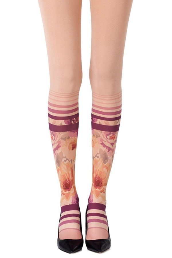 006d53a822ead Tri Me Heather Brown Tights. $20.00. Cute Tights - Sock In The Garden  Powder Tights