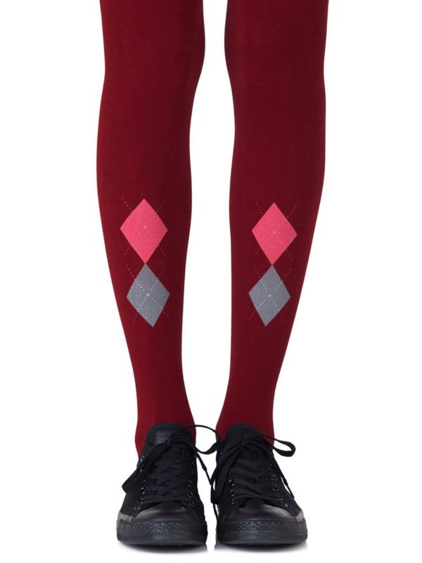 Cute Tights - Ivy League Burgundy Tights