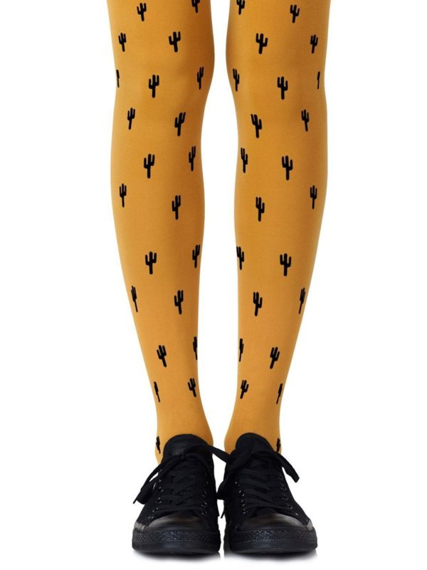 Cute Tights - Prickly Pear Mustard Tights