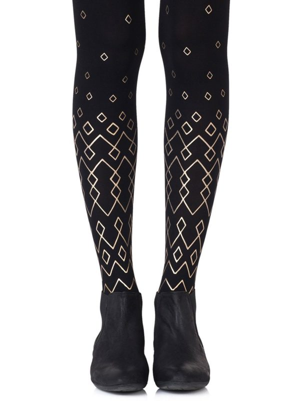 Cute Tights - Diamonds Are Forever Black Tights