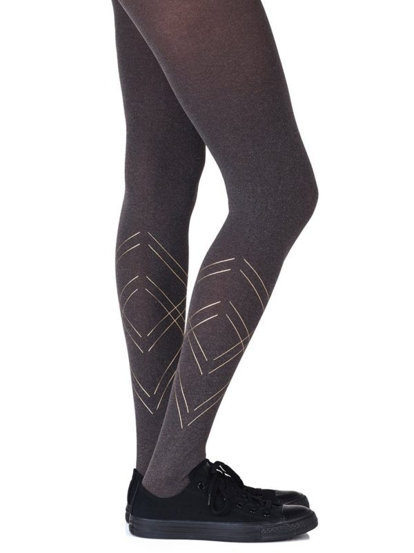 Cute Tights - Tri Me Heather Brown Tights