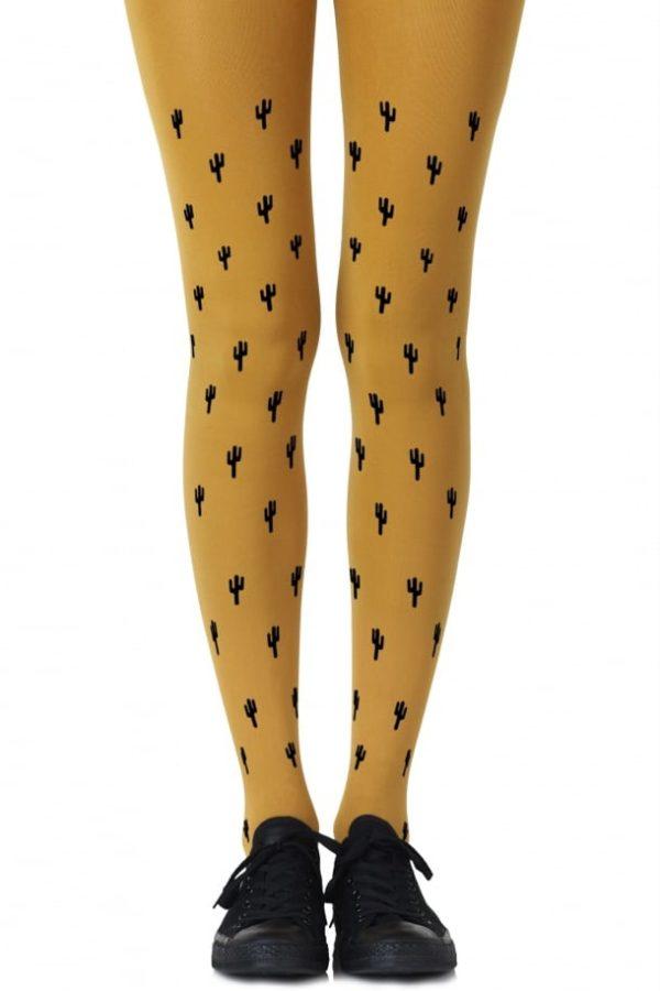 Cute Tights - Prickly Pear Mustard Tights