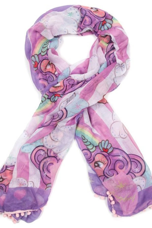 Pom Pom Parade Scarf – Pink by Irregular Choice