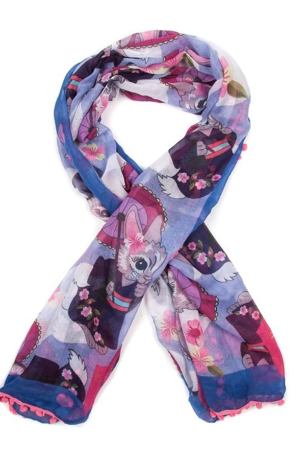 Pom Pom Parade Scarf – Blue by Irregular Choice