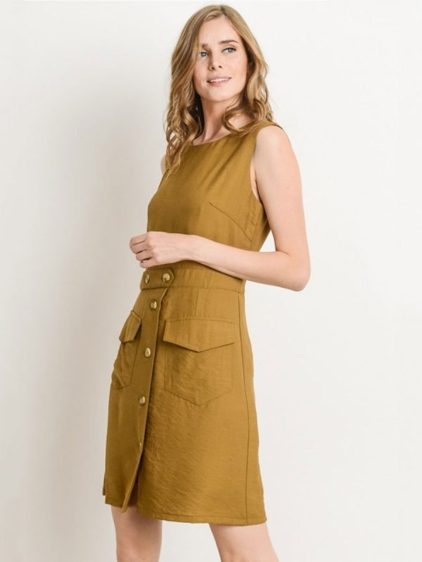 Button Up Urban Adventurer Shift Dress